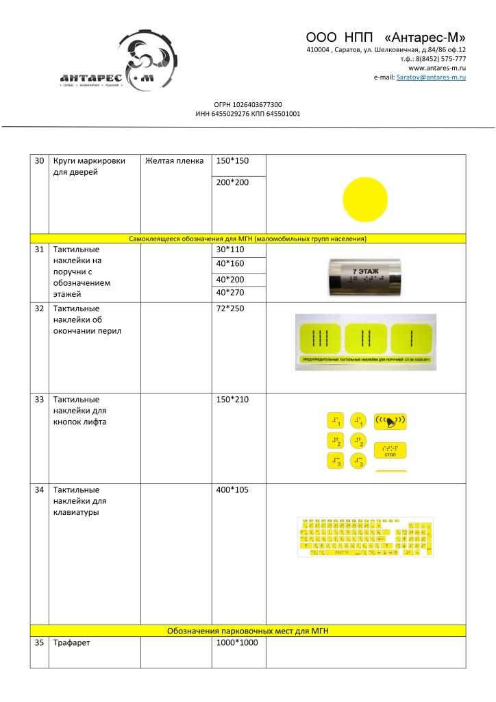 Каталог продукции для адаптации по программе Доступная среда список